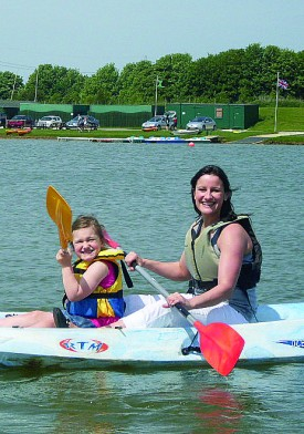 Kayaking at Allerthorpe Lakeland Park
