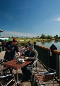 Allerthorpe Lakeland Park cafe overlooking the beautiful lake