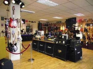 MOR Music, York interior view.