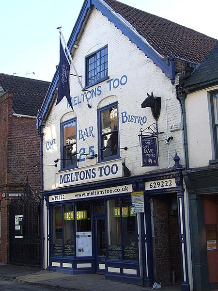 York restaurant, Melton's Too down Walmgate.