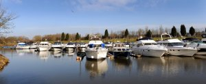 Beautiful York Marina in Naburn.