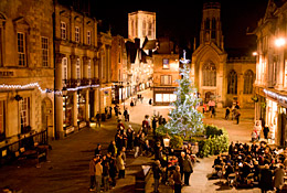 York at Christmas, carol singing