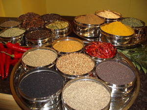 Rafi's spicebox York, full of spices.