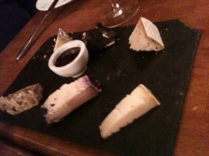 Selection of cheeses with chutney York Le Langhe