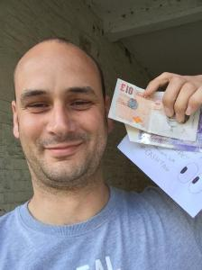 Man finds hidden cash envelope