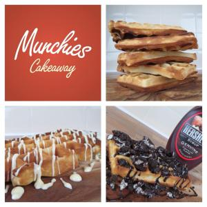 Munchies Cakeaway Waffles and Logo