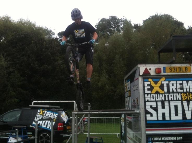 Extreme bike stunt show cycle