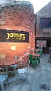 Jamie's Italian York patio area
