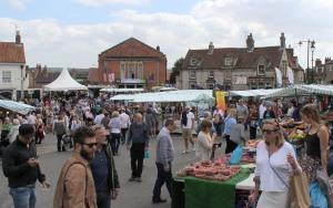 Malton Food Festival stalls