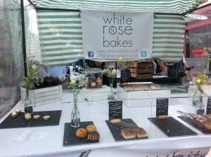 White Rose Cakes stall
