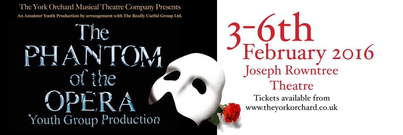 Phantom of the Opera York mask and rose