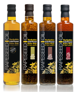 Yorkshire rapeseed oils - group shot