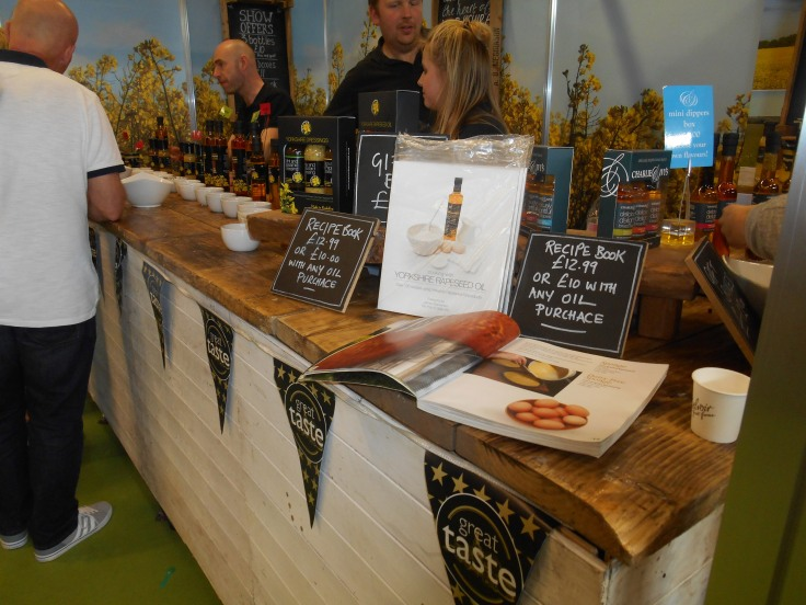 Yorkshire Rapeseed oil stand at BBC Good Food Show