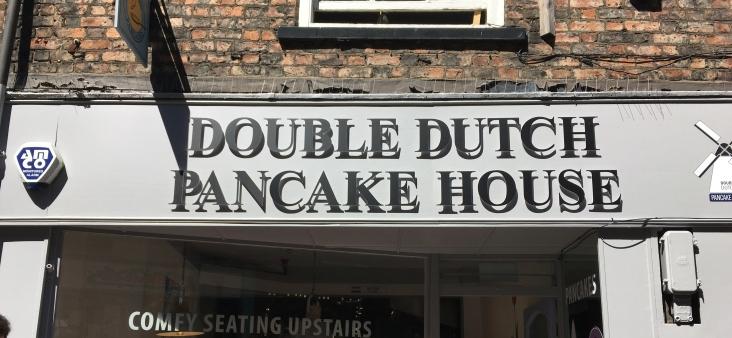Double Dutch Pancake House York sign