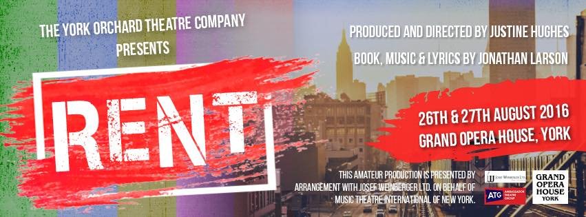 RENT york musical orchard theatre