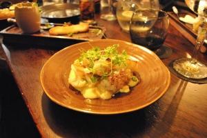'Comté' Cauliflower Cheese Mornay, English Mustard, Almond Crust