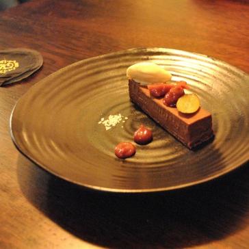 Dark Chocolate & Damson 'Tart', Sloe Gin