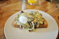 Creamy Truffle Mushrooms & Poached Egg on Toasted Sourdough