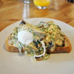 Creamy Truffle Mushrooms & Poached Egg on Toasted Sourdough
