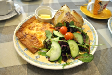 Ham & Cheese Quiche with Jacket Potato